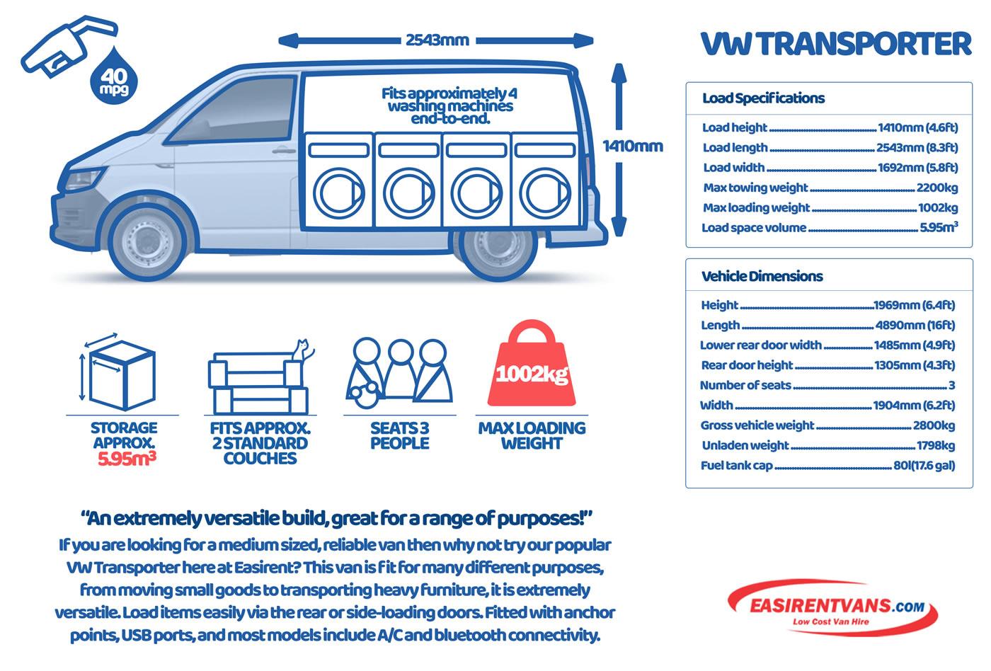 VW Transporter Specs
